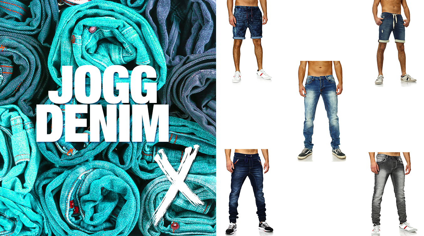Stylische Jogger Jeans&Shorts