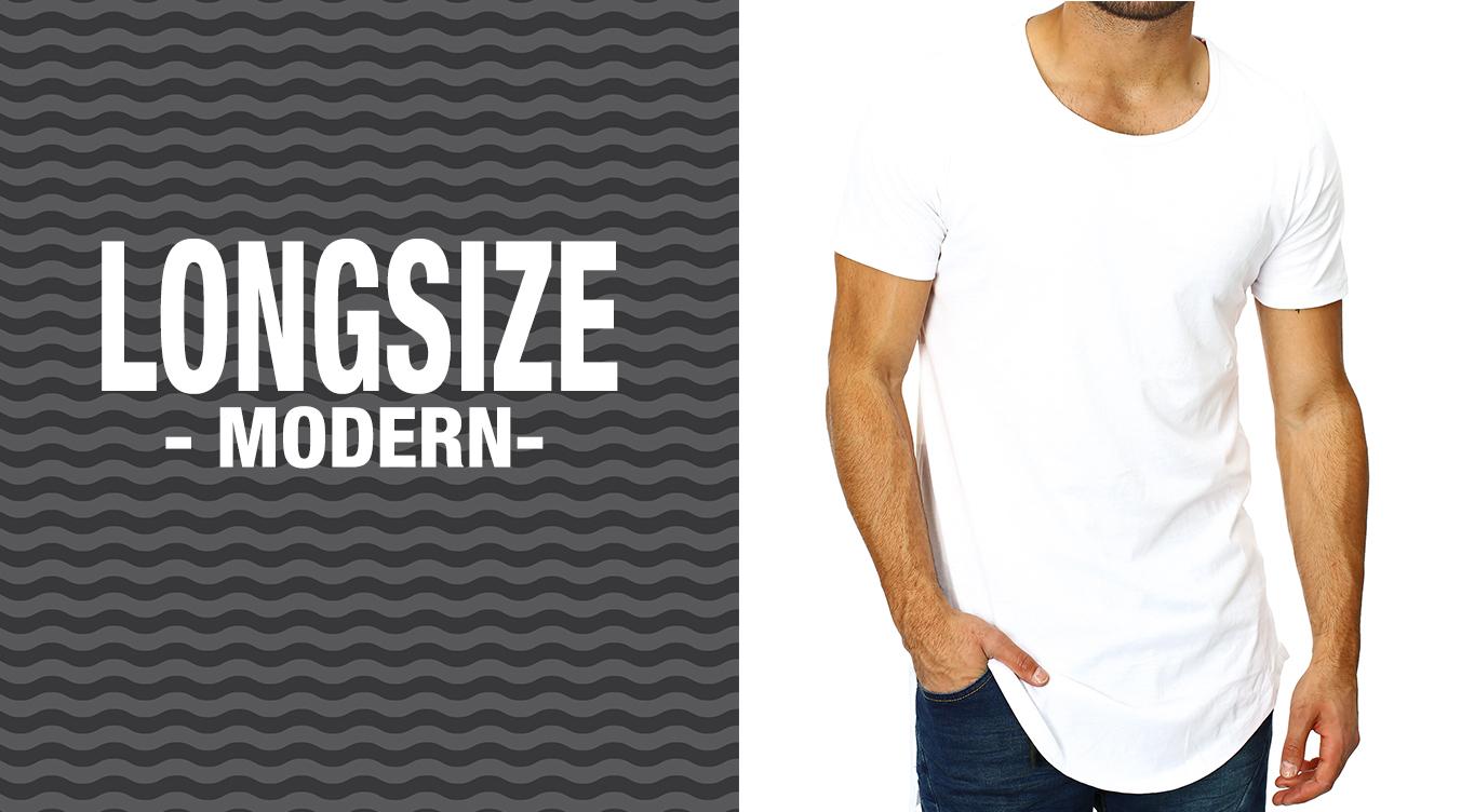 Moderne Longsize T-Shirts