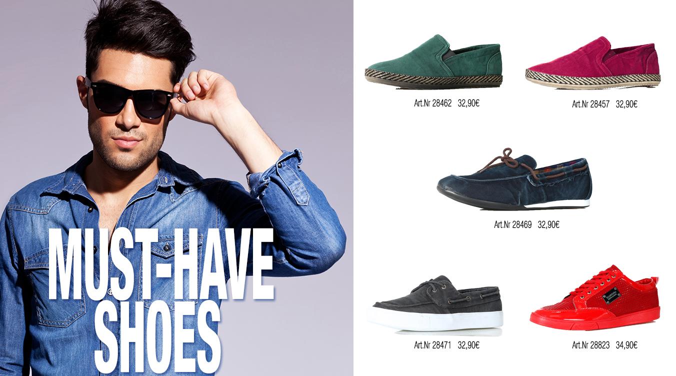 Schuhe für Männer Sommertrends
