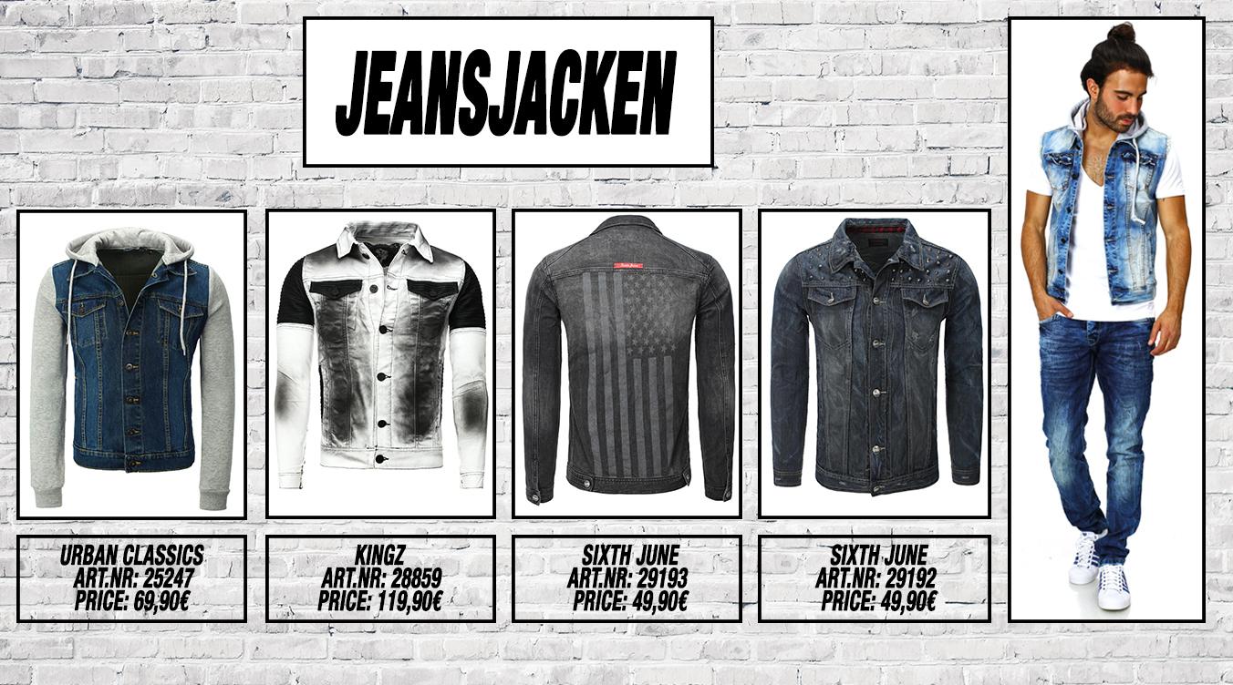 Männer Jeansjacken