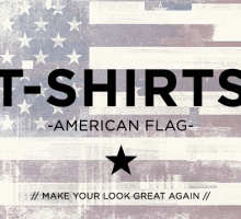 "T-Shirts mit USA Flagge ""Make your Look great again"""