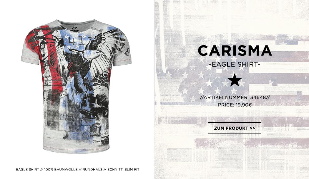 Carisma Herren T-Shirt American Flag